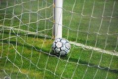 Soccer Ball, Venice, May 2007. Italian Soccer Ball in the net in Venice Royalty Free Stock Image