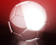 Soccer ball wallpaper Stock Photos