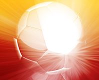 Soccer ball wallpaper Stock Images