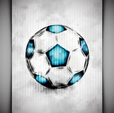 Soccer ball watercolor Royalty Free Stock Images