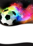 Football abstract background. Soccer ball on a wavy abstract background Royalty Free Stock Photos