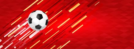 Soccer ball web banner for special sport event Royalty Free Stock Photos