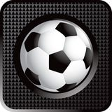 Soccer ball web button. Web button of a soccer ball Royalty Free Stock Photo