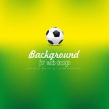 Soccer ball for webdesign on defocused background,  Royalty Free Stock Photography