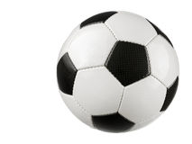 Soccer ball on white. Studio shot of a typical Soccer ball isolated on pure white without shadow stock image