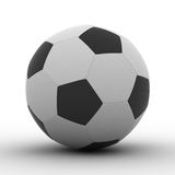 Soccer ball on white background Stock Image