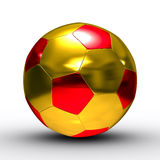Soccer ball on white background Royalty Free Stock Images