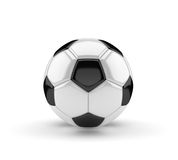 Classic soccer ball  on white background 3D Stock Images