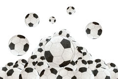 Soccer ball on a white background Stock Photos