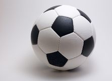 Soccer ball on white backround. Here is a photo of a white and black soccer (or football) on a white backround Stock Image