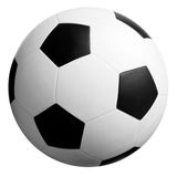 Soccer Ball In White-black Stock Photography