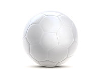 Soccer ball white 3d Royalty Free Stock Photo