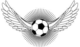 Soccer Ball white wings Stock Images