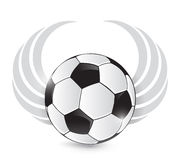 Soccer ball with wings. illustration design Stock Image