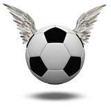 Soccer Ball with Wings Stock Photo