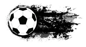 Free Soccer Ball With Grunge Scuffs, Ink Stains And Space For Text. The Object Is Separate From The Background Stock Photo - 145822910