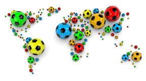 Soccer Ball World Map Royalty Free Stock Image