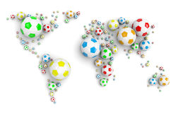 Soccer Ball World Map Stock Image