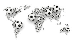 Soccer Ball World Map Stock Images