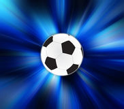 Soccer Ball on zoom effect background Stock Images