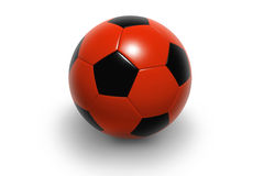 Soccer ball4. Soccer ball isolated on white background. Photorealistic 3D rendering. (red and black, see portfolio for more colors Royalty Free Stock Photos
