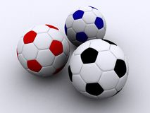 SOCCER BALLS royalty free illustration