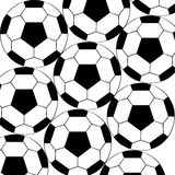 Soccer Balls. Texture on white Background Royalty Free Stock Photos