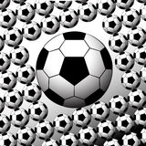 Soccer Balls. Texture on white Background Royalty Free Stock Photography