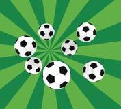 Soccer balls Stock Image