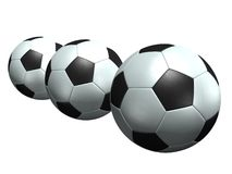 Soccer balls. 3d model Stock Image