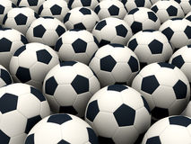 Soccer balls. Computer generated image; 3d render vector illustration