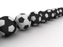 Soccer balls Stock Photography