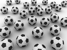 Soccer balls. On white back Stock Images