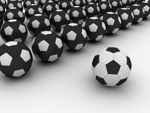 Soccer balls. On white back Royalty Free Stock Photo