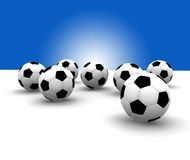 Soccer balls Stock Photo