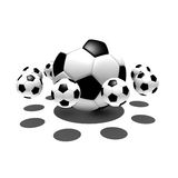 Soccer balls in the air Stock Photos