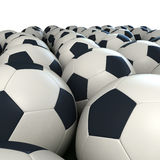 Soccer balls arrangement Royalty Free Stock Photography
