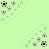Soccer Balls background Stock Photography