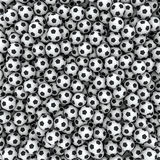 Soccer balls background. 3D render of hundreds of soccer balls filling image Royalty Free Stock Photo