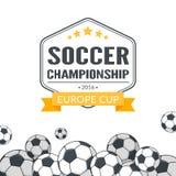 Soccer balls background. Stock Images