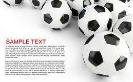 Soccer balls background. Soccer balls on a white background Stock Photo