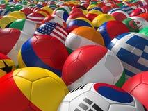 Soccer balls BG. Stock Image