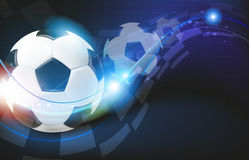 Soccer balls on blue background Stock Image