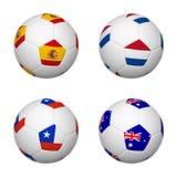 Soccer balls of Brazil 2014, group B Stock Photos