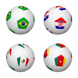 Soccer balls of Brazil 2014, group A Royalty Free Stock Image