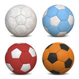Soccer Balls Collection Stock Images