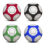 Soccer Balls Collection. Four Soccer Balls - Hyper Realistic 3D Illustrations (jpeg file with clipping path Stock Photos