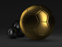 Soccer balls - concept illustration Stock Images