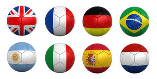 Soccer balls Royalty Free Stock Photo