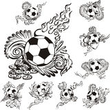 Soccer balls with embellishments Stock Image